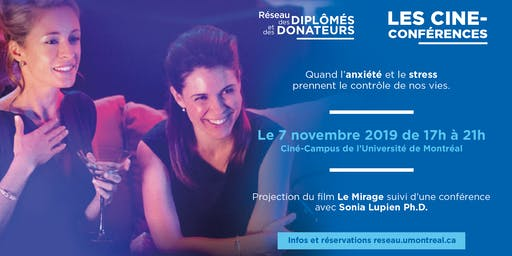 LES CINÉ-CONFÉRENCES  | Avec Sonia Lupien Ph.D.
