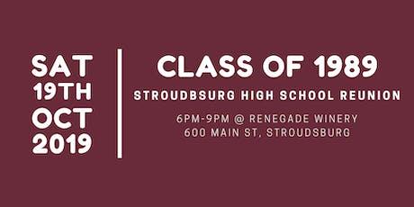 Stroudsburg  High School Class of 1989 - 30th Reunion tickets