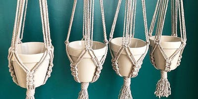BYOPlant, macrame hanger workshop