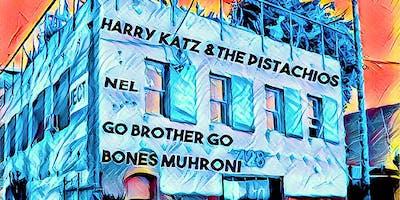 Go Brother Go, Nel, Harry Katz & the Pistachios, Bones Muhroni