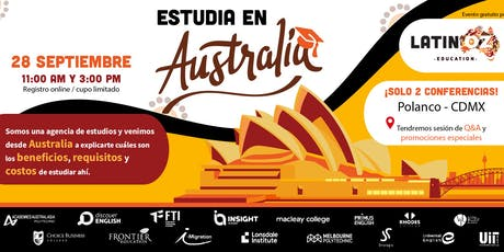 Estudiar en Australia: beneficios, requisitos y costos (sesión vespertina) tickets