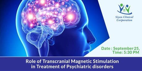 The Role of Transcranial Magnetic Stimulation in the Treatment of Psychiatric Disorders (CME/CEU/CE credit)  tickets