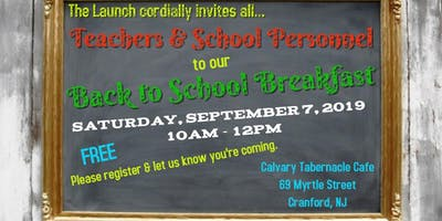 Back to School Breakfast for Teachers & School Personnel