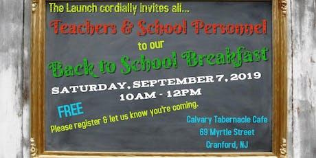 Back to School Breakfast for Teachers & School Personnel tickets