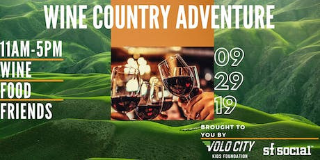 Wine Country Adventure Volo Kids Foundation Fundraiser tickets