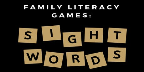 Family Literacy Games: Sight Words tickets