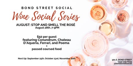 August Wine Social Series: Stop and Smell the Rosé tickets