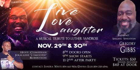 Live, Love, Laughter: A Musical Tribute To Luther Vandross tickets