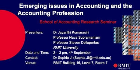 Emerging issues in Accounting and the Accounting Profession tickets