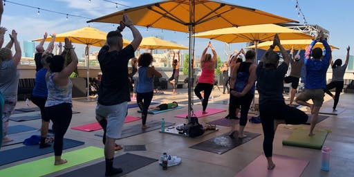 Topgolf Yoga on the Terrace