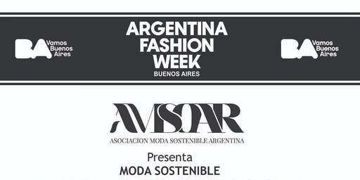 "Desfile ""MODA SOSTENIBLE"" Argentina Fashion Week ."