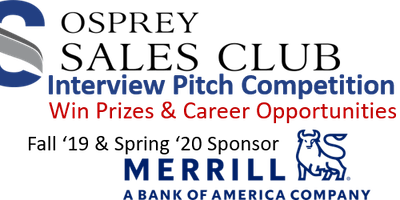 Osprey Sales Club Meeting and Interview Pitch Competition Info Session: