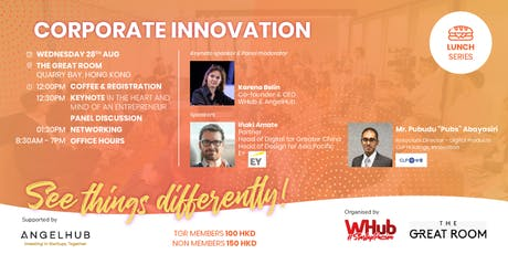 Lunch Dialogue: Corporate Innovation by WHub tickets