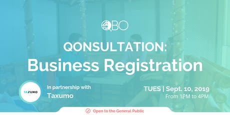 QONSULTATION: Business Registration and Incorporation tickets