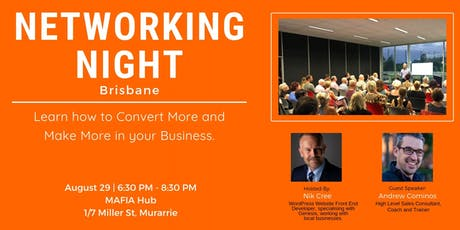 7th Brisbane Networking Night: Come Along And Join Like-Minded Business Owners tickets
