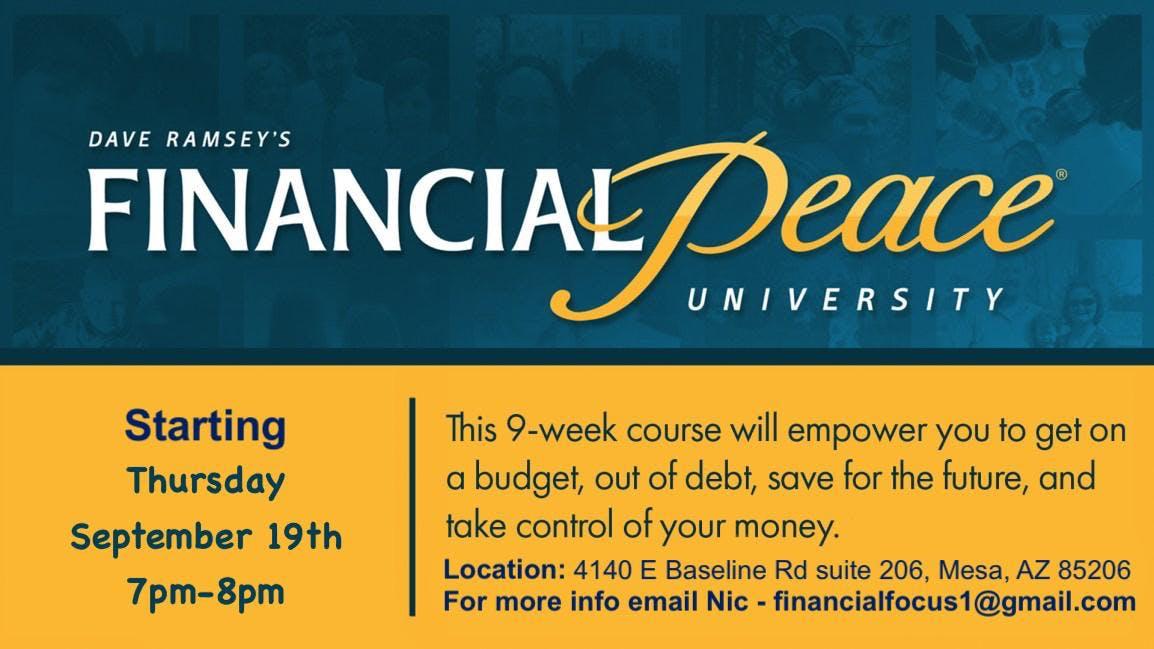 FREE Dave Ramsey's Financial Peace University (Mesa, AZ)