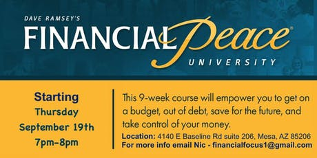 FREE Dave Ramsey's Financial Peace University (Mesa, AZ) tickets