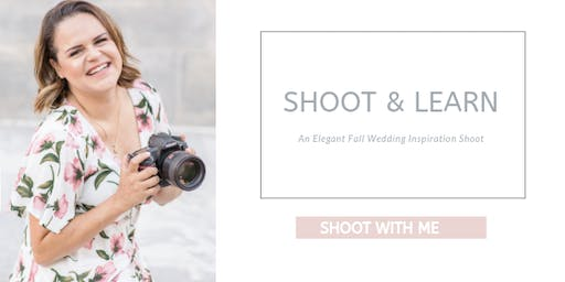 Shoot & Learn: Elegant Fall Wedding Inspiration shoot!