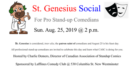 St. Genesius Day Social for Stand-up Comedians tickets