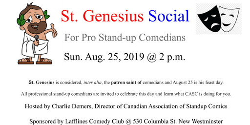 St. Genesius Day Social for Stand-up Comedians