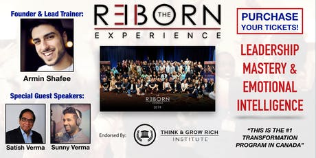 The REBORN Experience March 2019 - Leadership & Emotional Mastery Weekend tickets