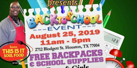 Back 2 School! Free Backpacks & School Supplies! tickets