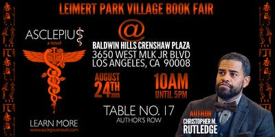Leimert Park Village Book Fair: ASCLEPIUS Book Signing
