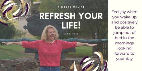 **ReFresh Your Life Online ** 30-day online course  tickets