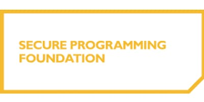 Secure Programming Foundation 2 Days Training in Nottingham