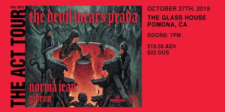 The Devil Wears Prada with Norma Jean and Gideon tickets