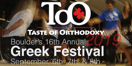 Boulder's Greek Festival tickets