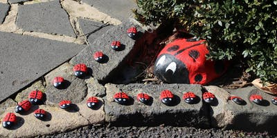 Pollinators Picnic: Painted Rock Bug-line at the Geelong Botanic Gardens