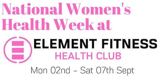 ELEMENT FITNESS - Women's Health Week