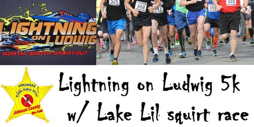 Lightning on Ludwig 5k Race / Lake Lil Squirt Race