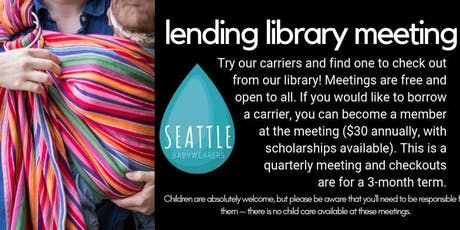 September North Seattle Lending Library Meeting tickets
