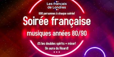 Soirée années 80/90 organisée par Les français de Londres