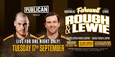 Roughead & Lewis farewell tour at Publican, Mornington! tickets