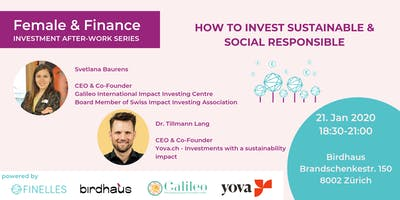 Female & Finance #4 - How to invest sustainable & social responsible