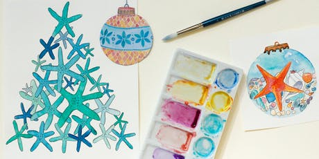 Paint Beachy Christmas Cards - Adult Watercolour Workshop tickets