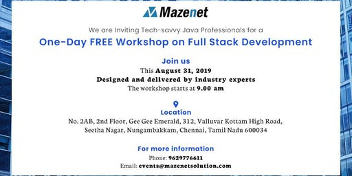 One-day Free Workshop l Full Stack Development l Mazenet