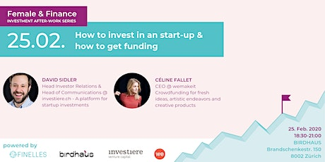Female & Finance #5 - How to invest in a start-up & how to get funding tickets