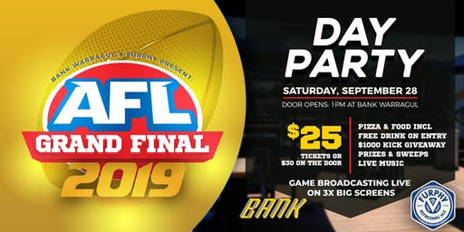 2019 Grand Final Day Party at Bank!