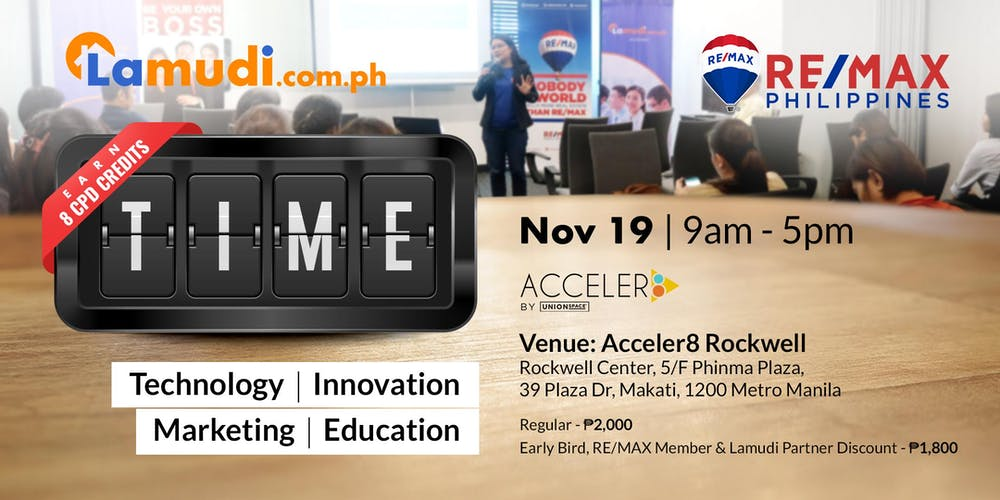 TIME Seminar for Real Estate Professionals Tickets, Tue, Nov
