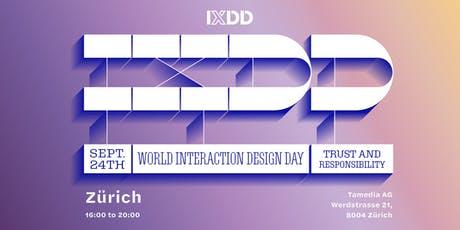 World Interaction Design Day - Trust and Responsibility tickets