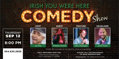 Comedy Night at Kelly Brothers! Sept 12th