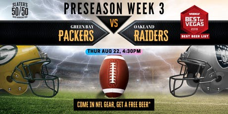 NFL Watch Party Packers vs Raiders tickets