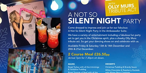 """A Not So Silent Night"" Christmas Party with Olly Murs Tribute Act"