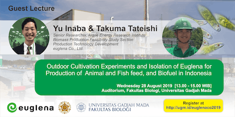 [Guest Lecture] Euglena for  Production of  Feed and Biofuel in Indonesia tickets