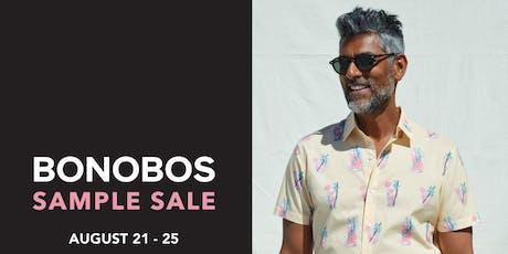 BONOBOS Sample Sale tickets