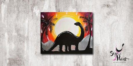 Sip & Paint MY @ Hubba Mont Kiara : Dinosaur tickets